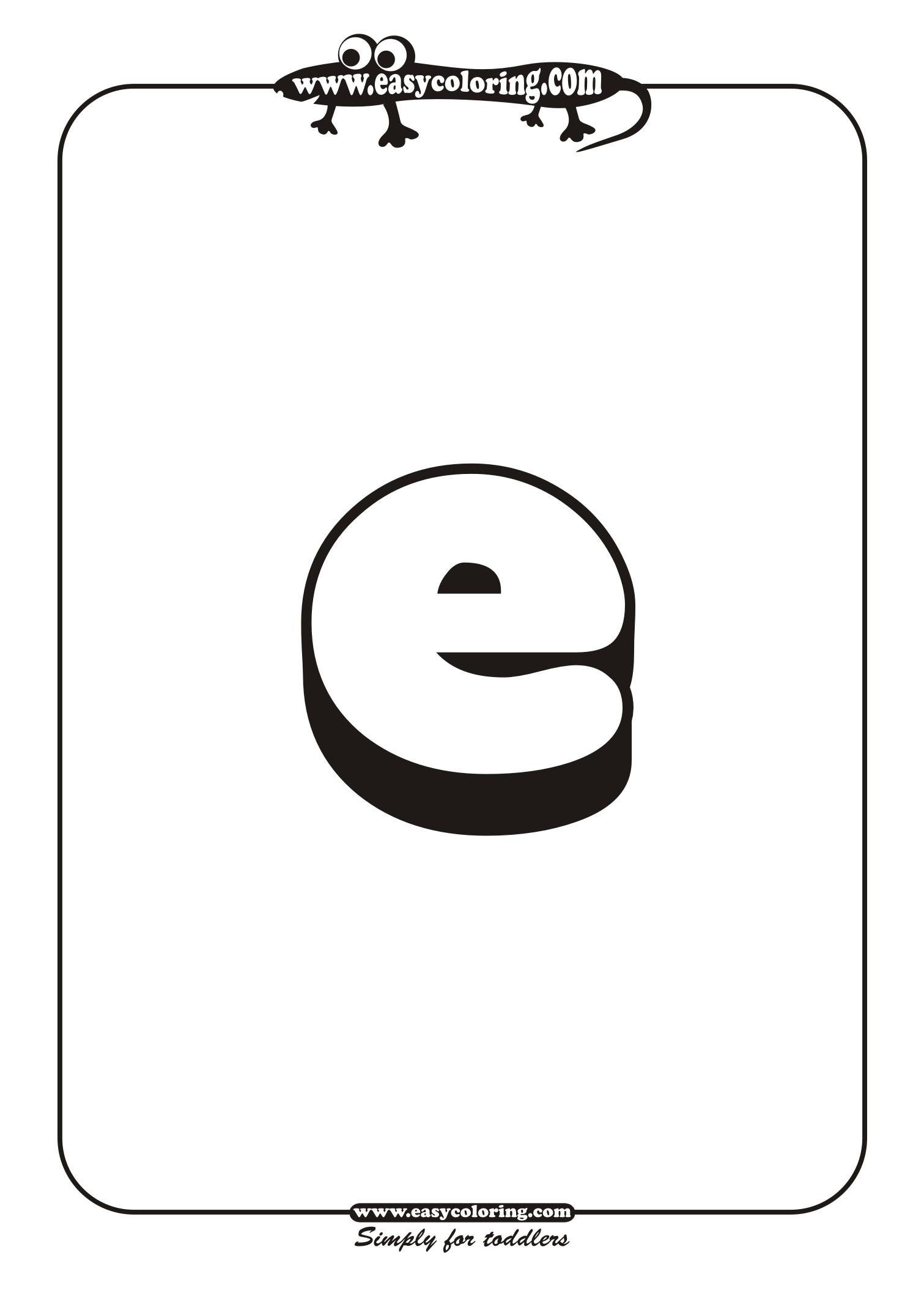 Small Letter E