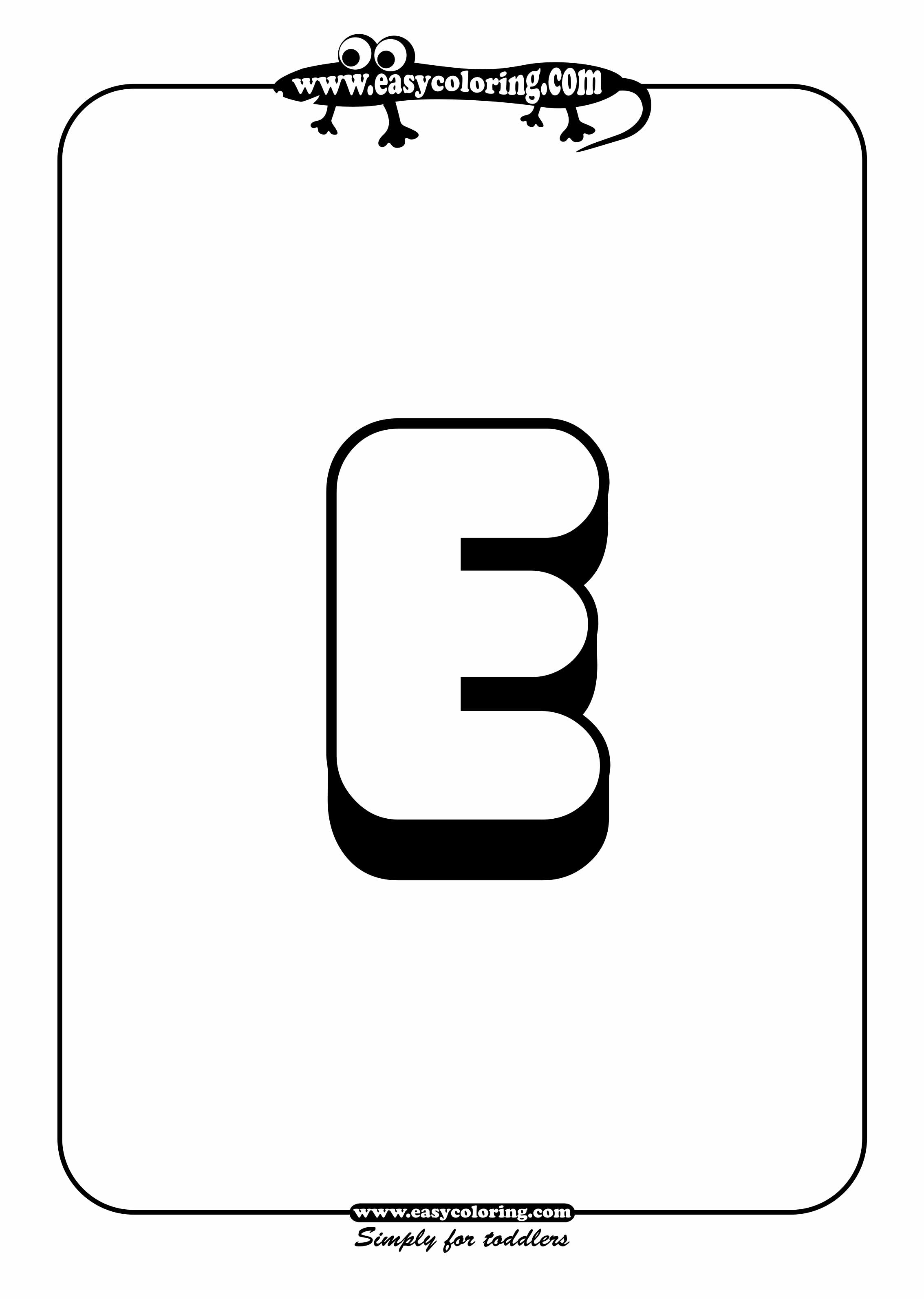 Free Coloring Pages Of Bubble Letter Lowercase E