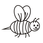 Bee - Easy coloring animals