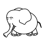 Elephant - Easy coloring animals