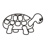 Turtle - Easy coloring animals