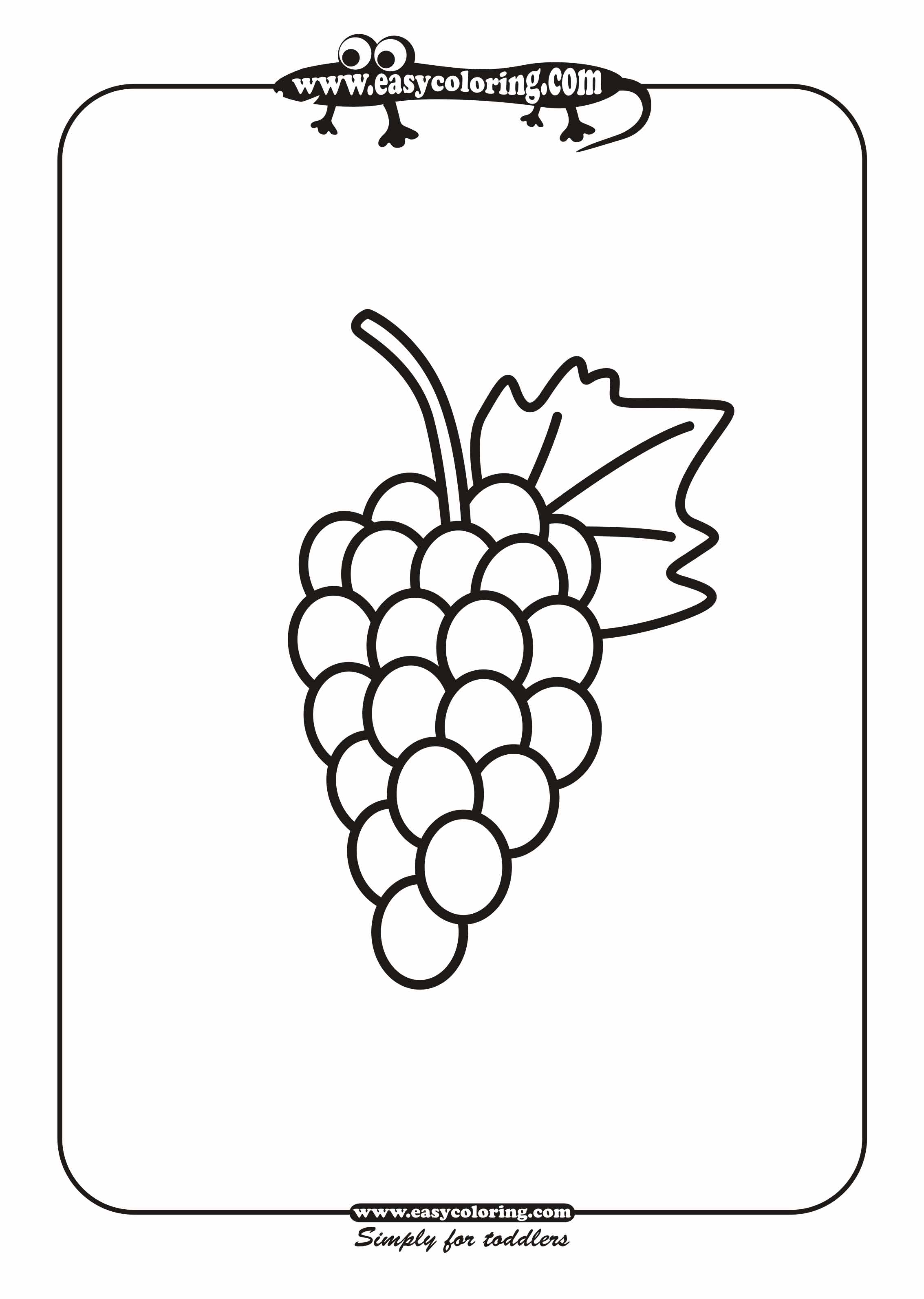 Free Coloring Pages Of Fruits Of Winter