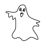 Halloween ghost - Easy coloring