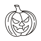 Halloween pumpkin one - Easy coloring