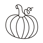 Halloween pumpkin two - Easy coloring