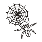 Halloween spider one - Easy coloring
