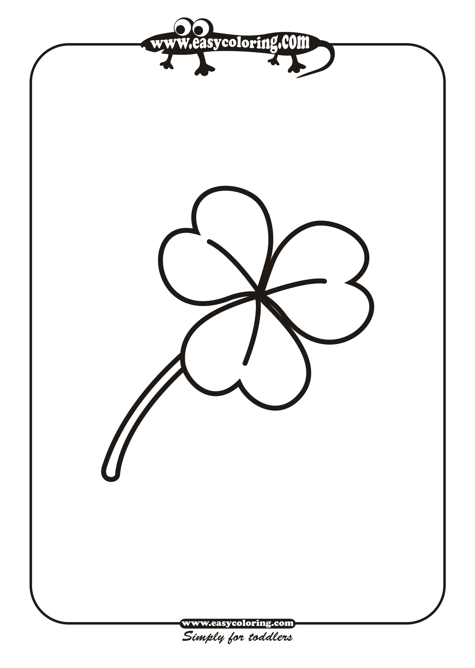 Leaf Four - Simple leafs | Easy coloring pages for toddlers