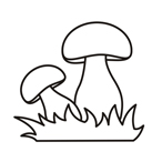 easy coloring mushrooms