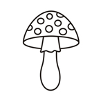 Mushroom Two - Easy coloring  mushrooms