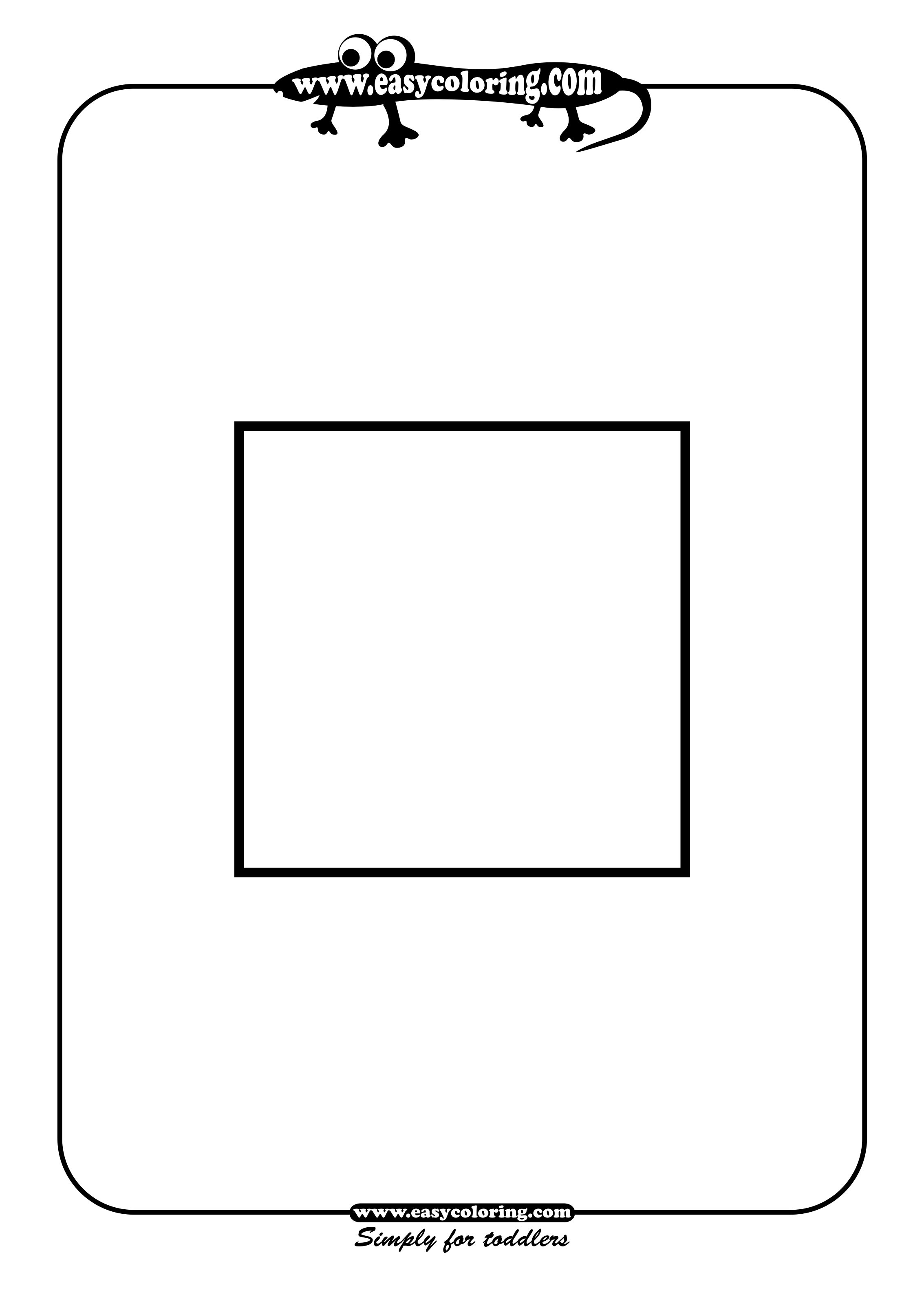 Square - Simple shapes | Easy coloring pages for toddlers