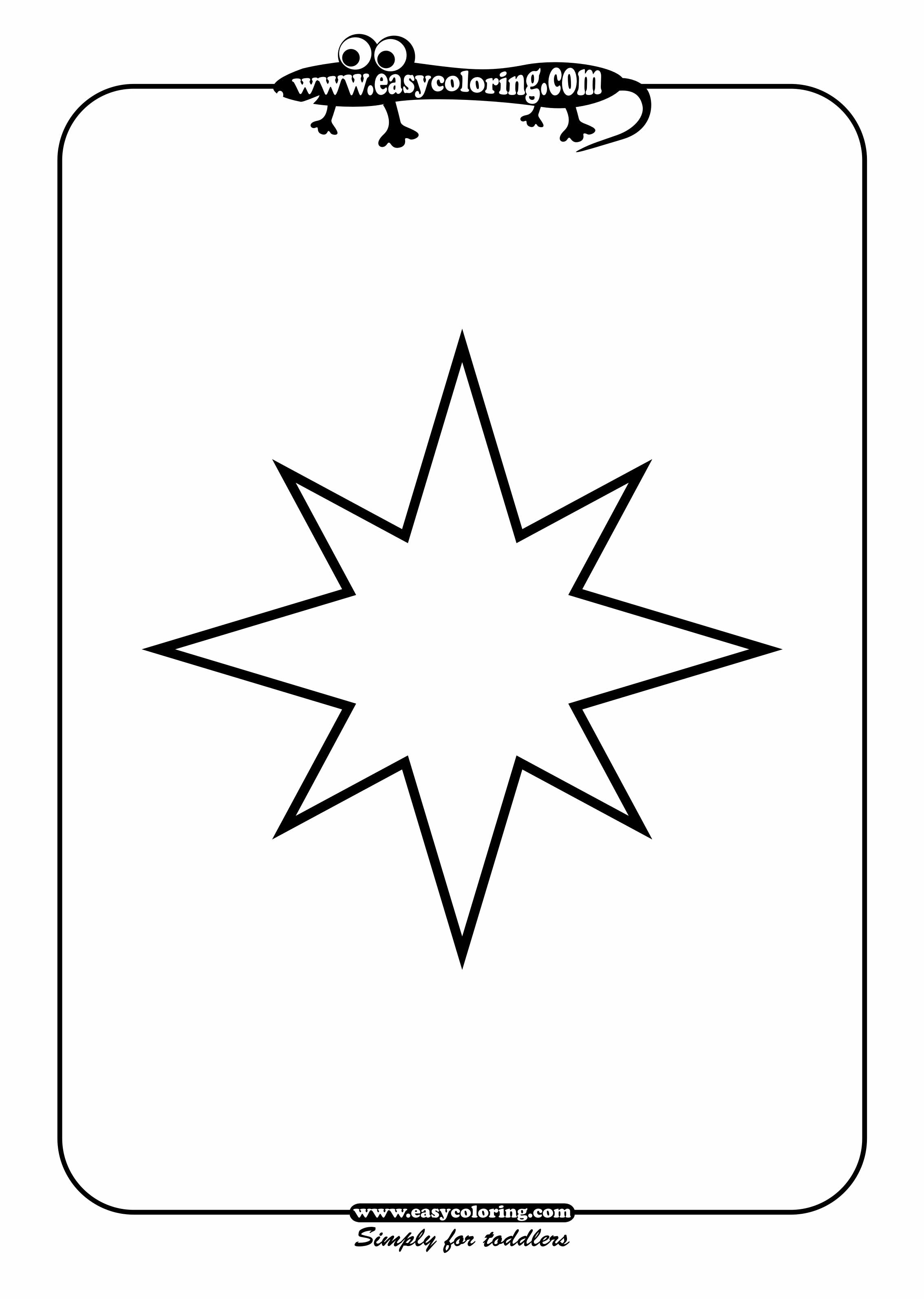 large printable star coloring pages - photo #46