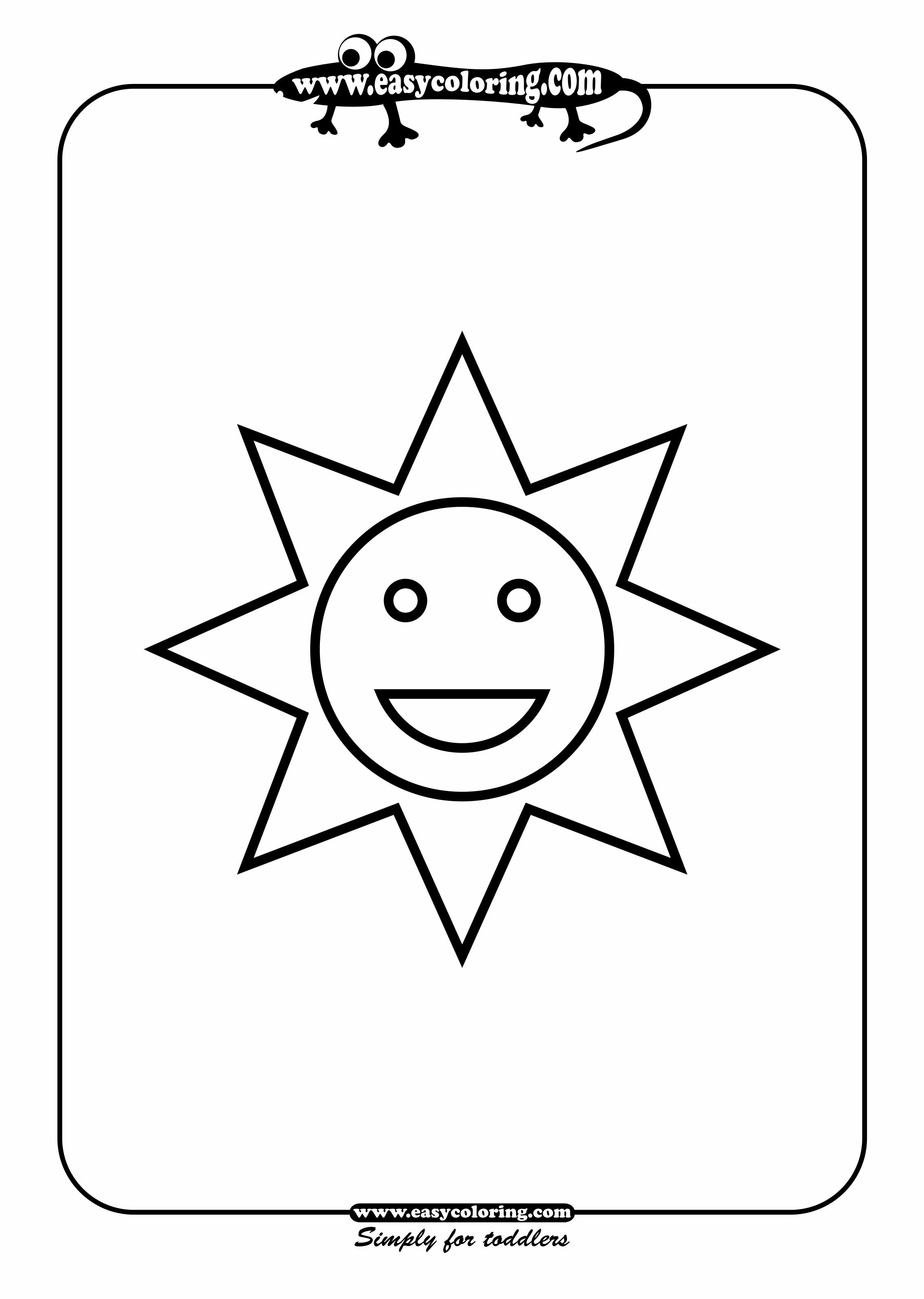 Sun Simple shapes Easy coloring