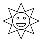 Sun - Easy coloring shapes