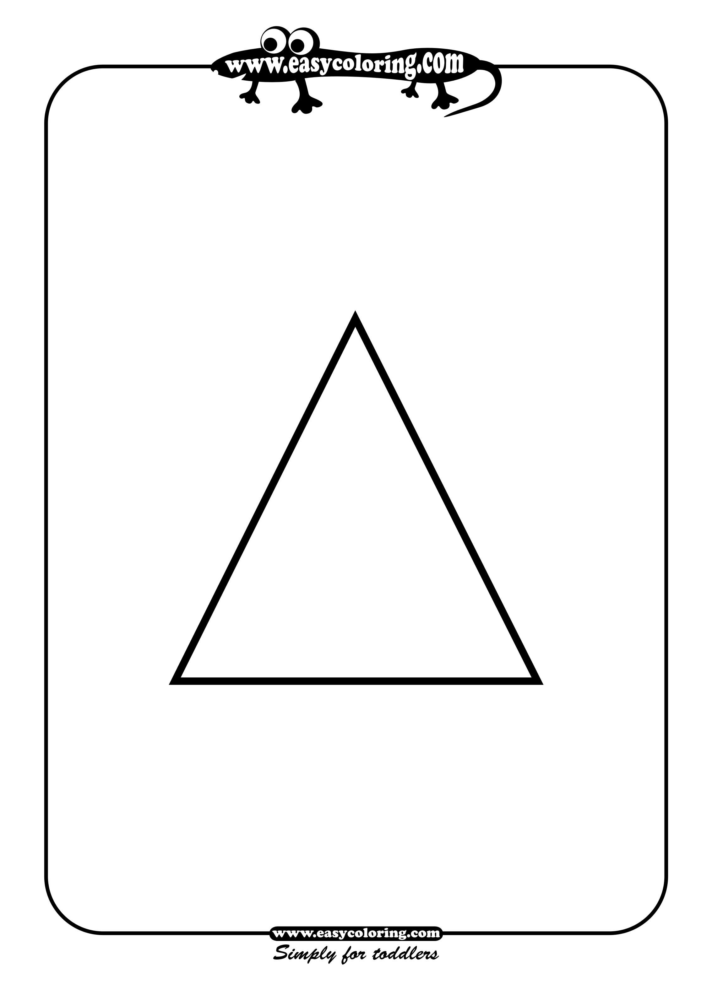 Free coloring pages of tracing and triangle sketch for Triangle coloring pages