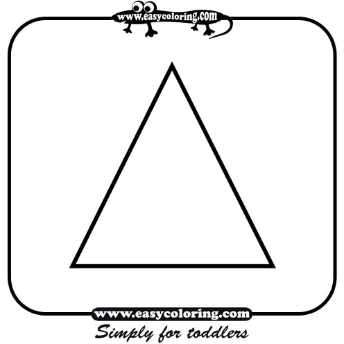 triangle easy coloring shapes - Coloring Pages Toddlers Shapes