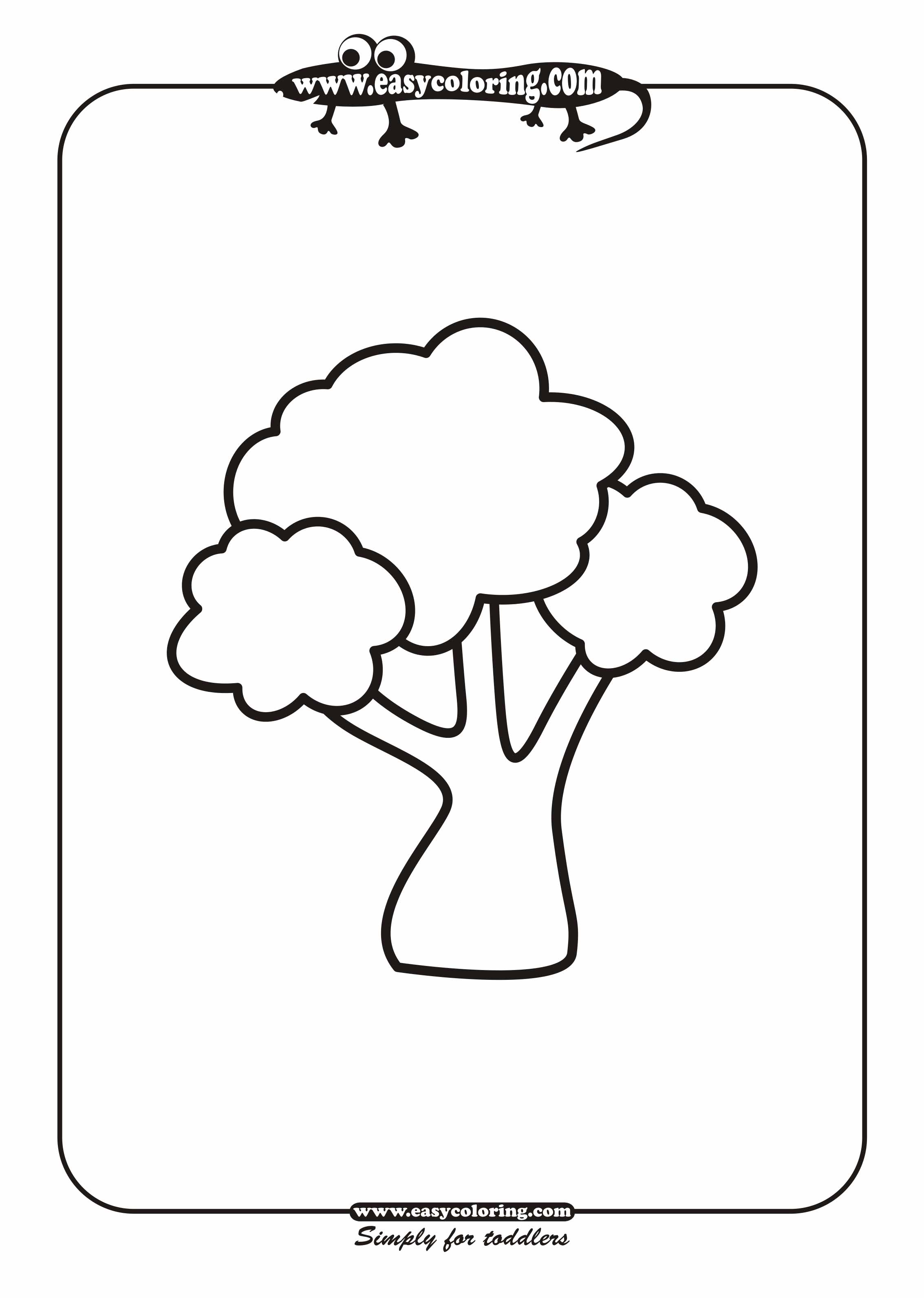 Tree Eleven Simple Trees Easy Coloring Pages For Toddlers Easy Tree Coloring Pages
