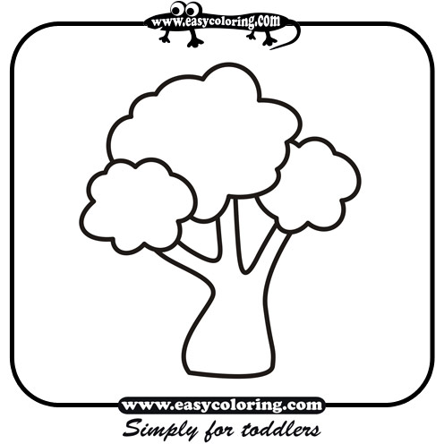 Image Simple Tree Coloring Page Download Basic Tree Coloring Page