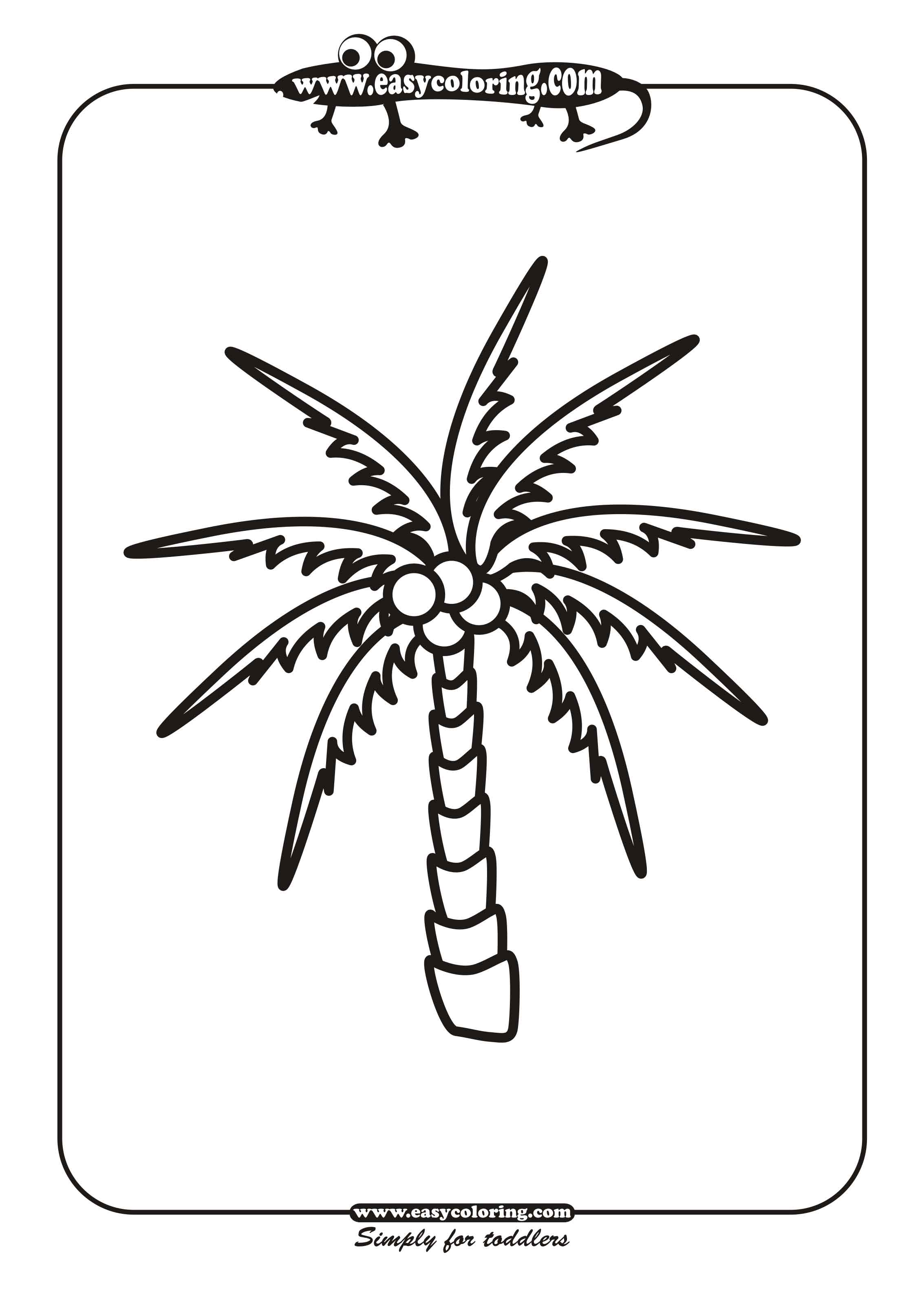 tree twelve simple trees easy coloring pages for toddlers