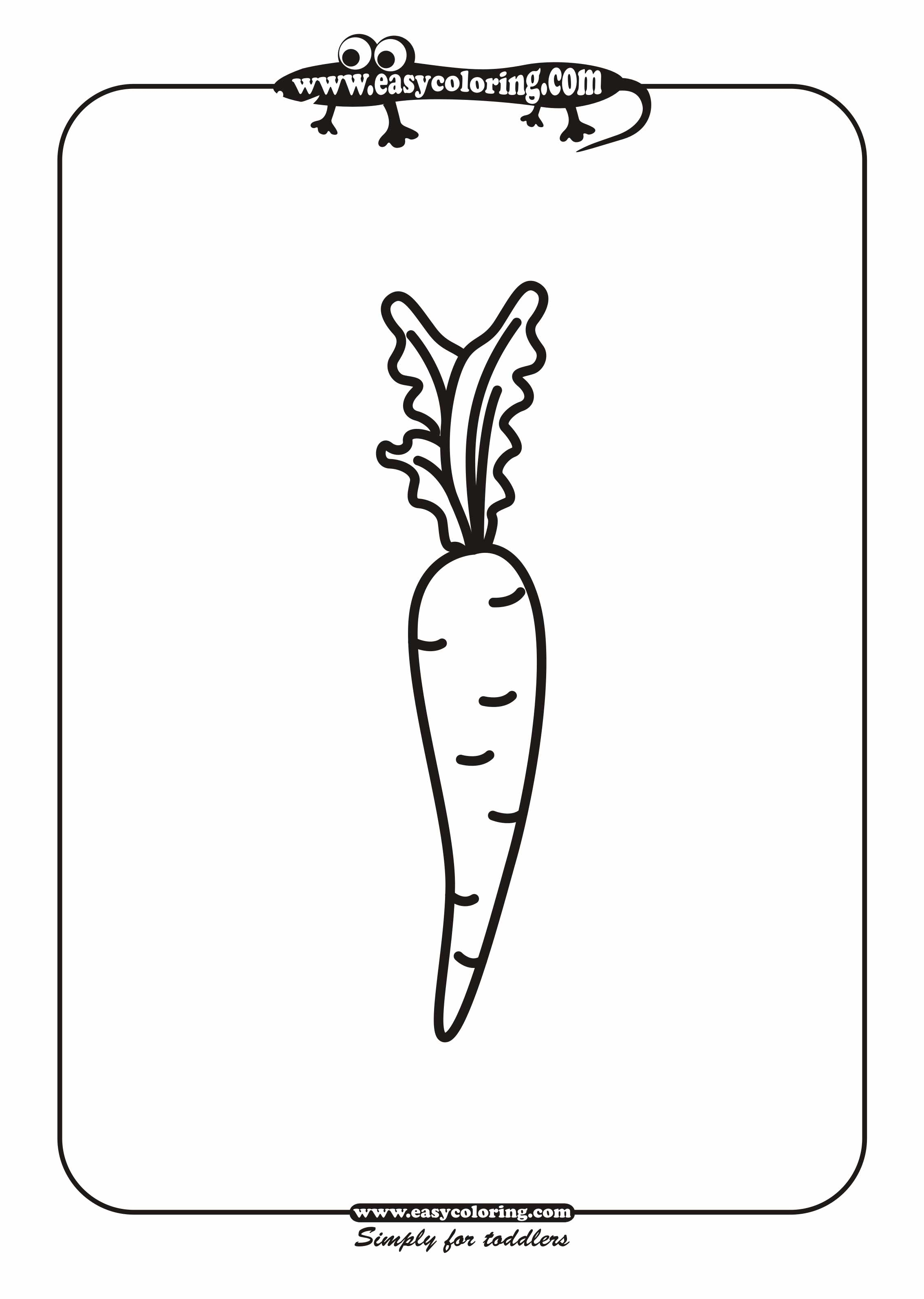 Free Coloring Pages Of Fruits Carrot
