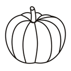 Pumpkin - Easy coloring vegetables