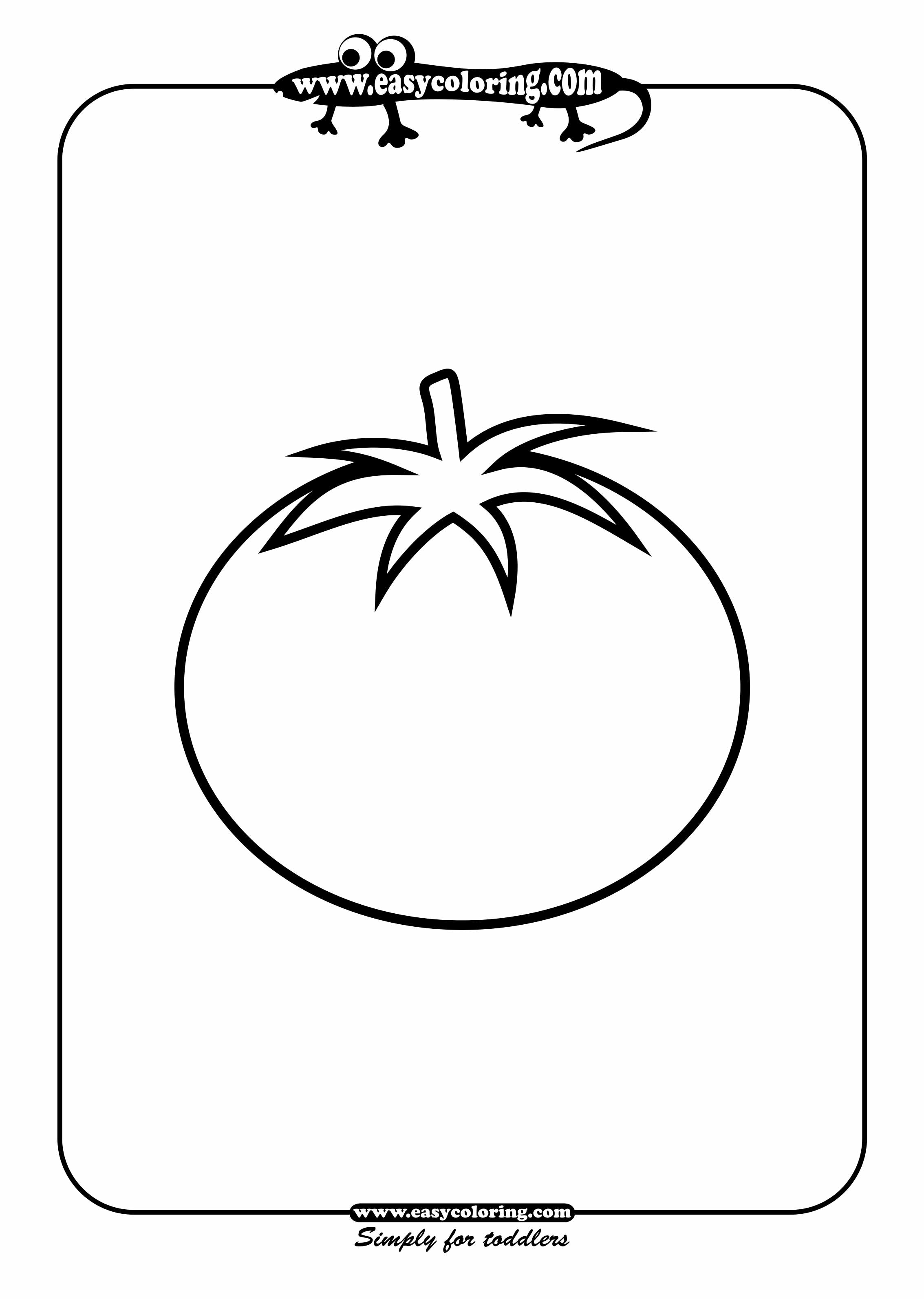 Www preschoolcoloringbook com summer coloring page - Free I Tomato Coloring Pages